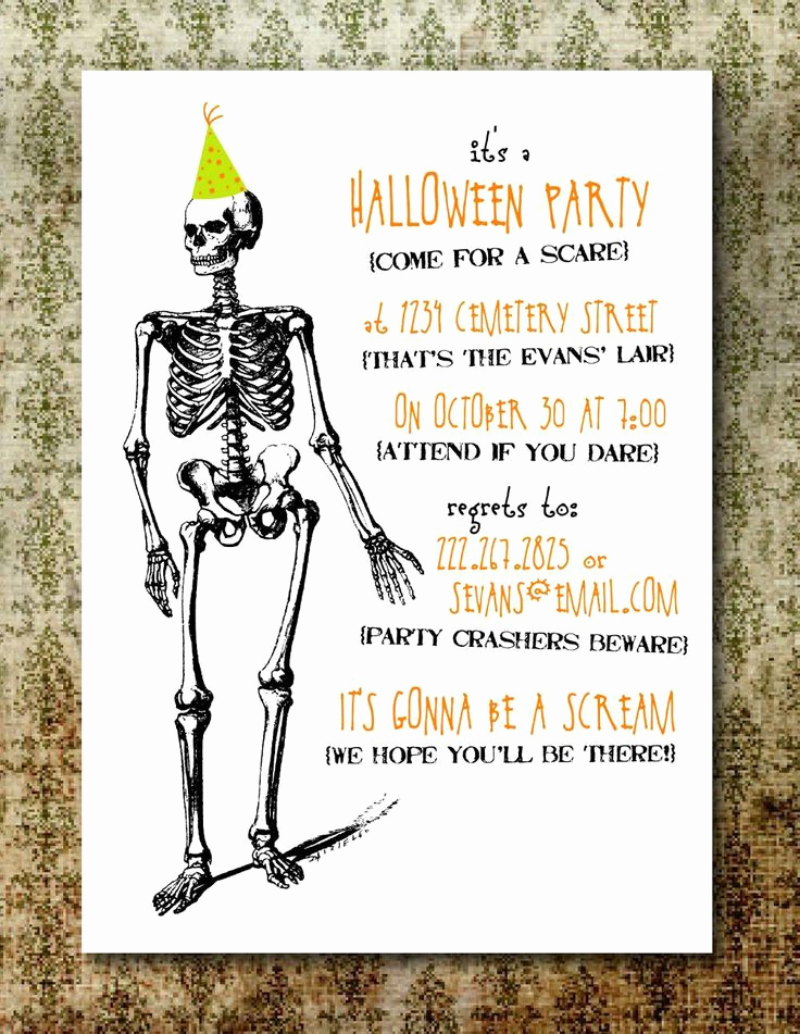 Free Halloween Invitation Templates Fresh Free Printable Halloween Invitations for Adults