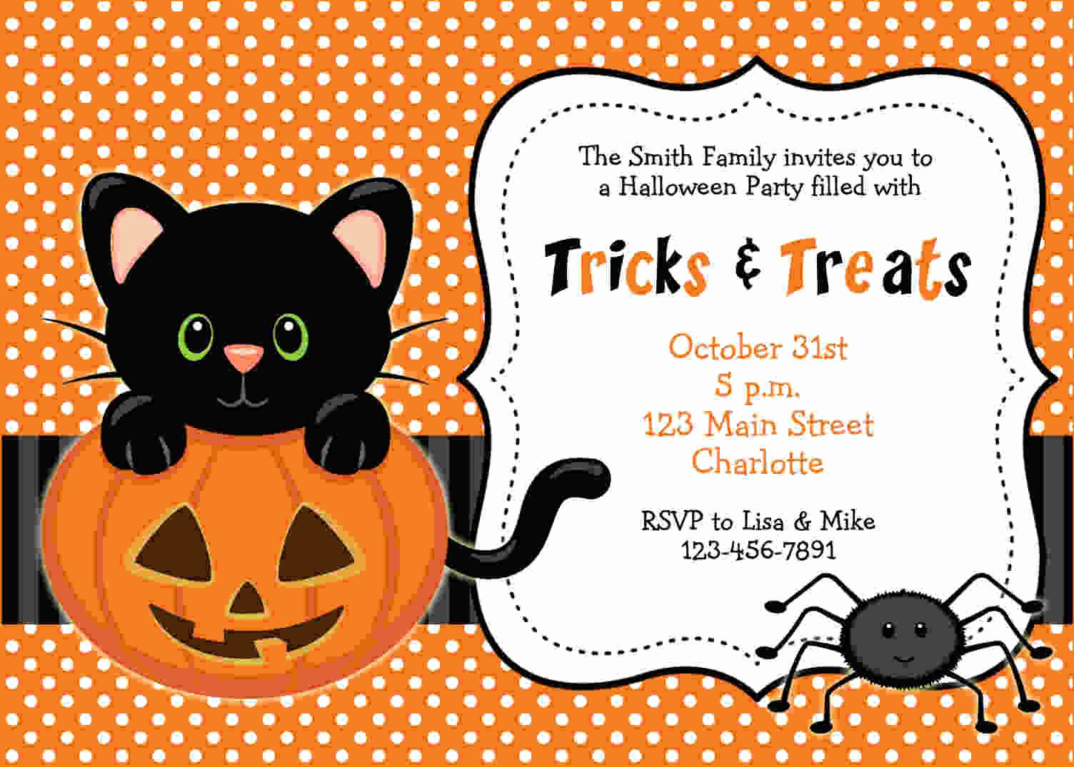 Free Halloween Invitation Templates Fresh Free Printable Halloween Invitations