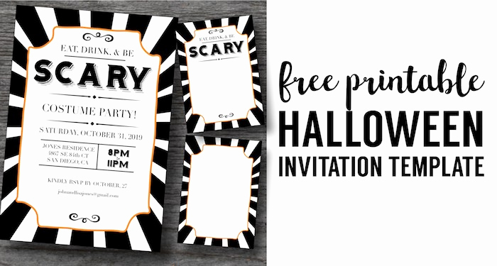 Free Halloween Invitation Templates Inspirational Halloween Invitations Free Printable Template Paper