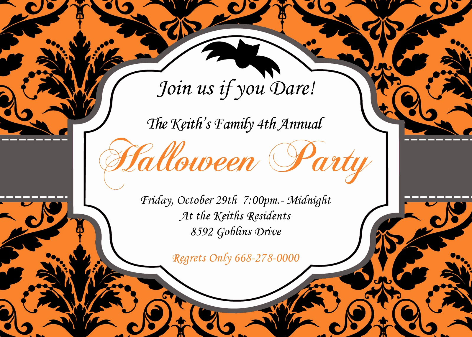 Free Halloween Invitation Templates Printable Beautiful Blank Halloween Invitation Templates – Festival Collections