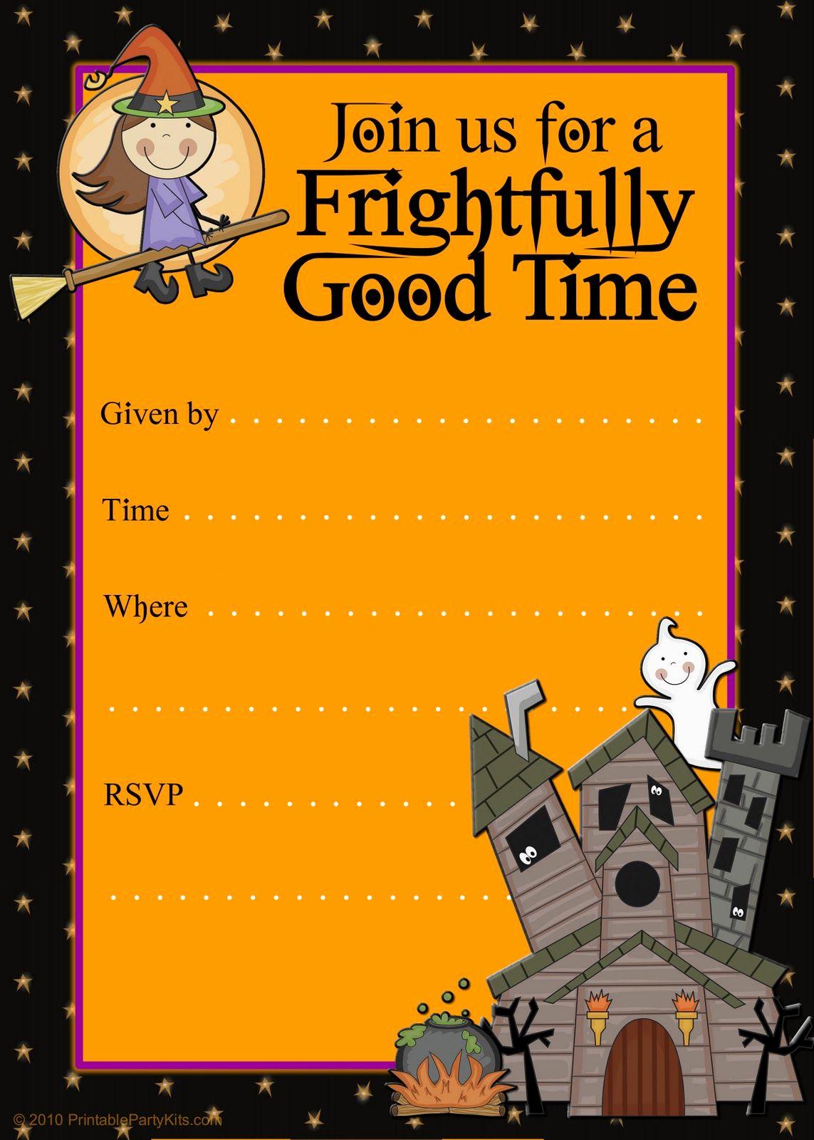 Free Halloween Invitation Templates Printable Beautiful Halloween Party Invitations
