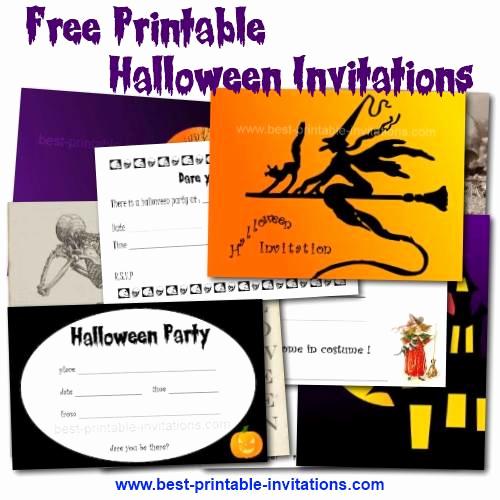 Free Halloween Invitation Templates Printable Elegant Printable Halloween Birthday Party Invitations – Festival