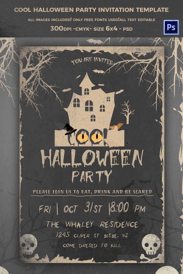 Free Halloween Invitation Templates Printable Inspirational 68 Halloween Templates Editable Psd Ai Eps format