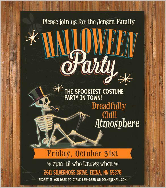 Free Halloween Invitation Templates Printable Inspirational Halloween Invitation 35 Free Psd Vector Eps Ai