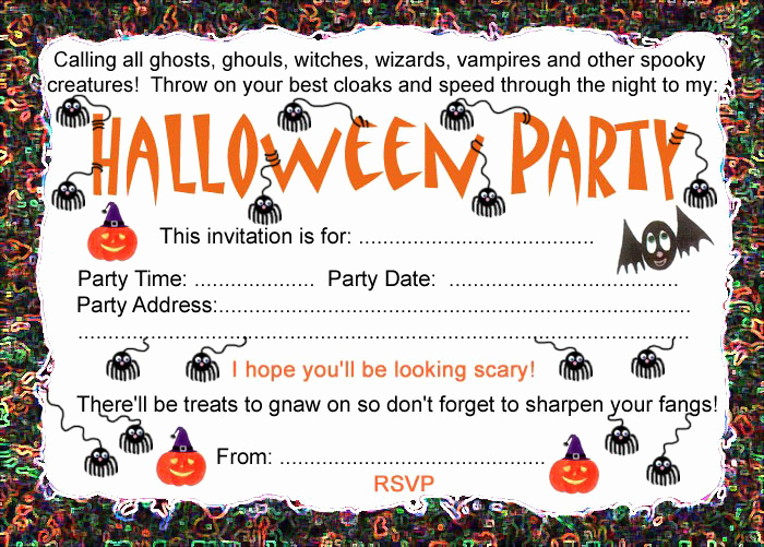 Free Halloween Invitation Templates Printable Inspirational Halloween Party Invitation