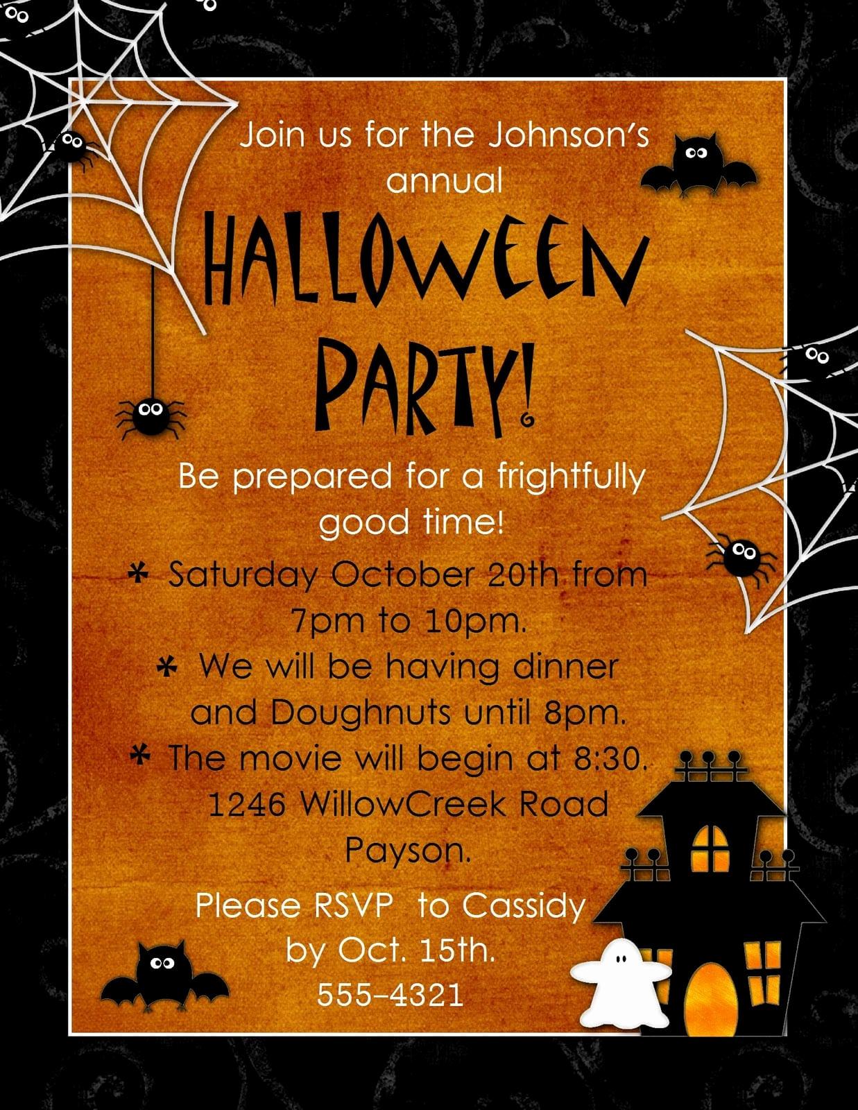 Free Halloween Invitation Templates Printable Lovely Halloween Invitation Template Free