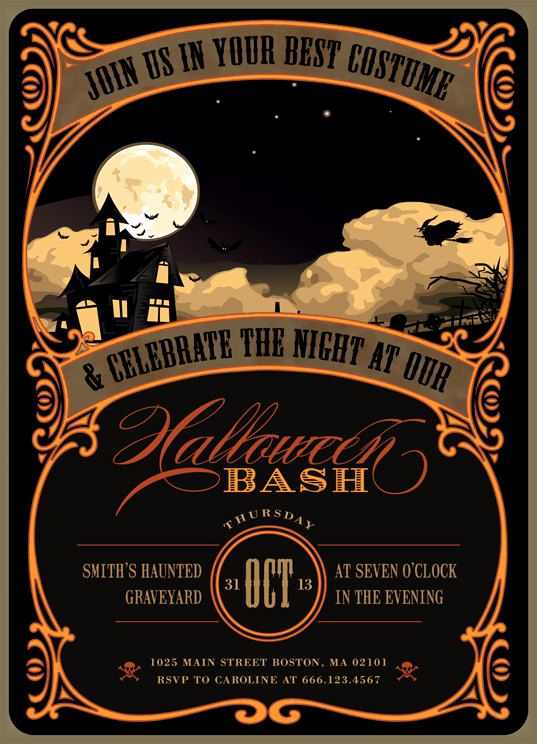 Free Halloween Invitation Templates Printable Unique Best 25 Halloween Party Invitations Ideas On Pinterest