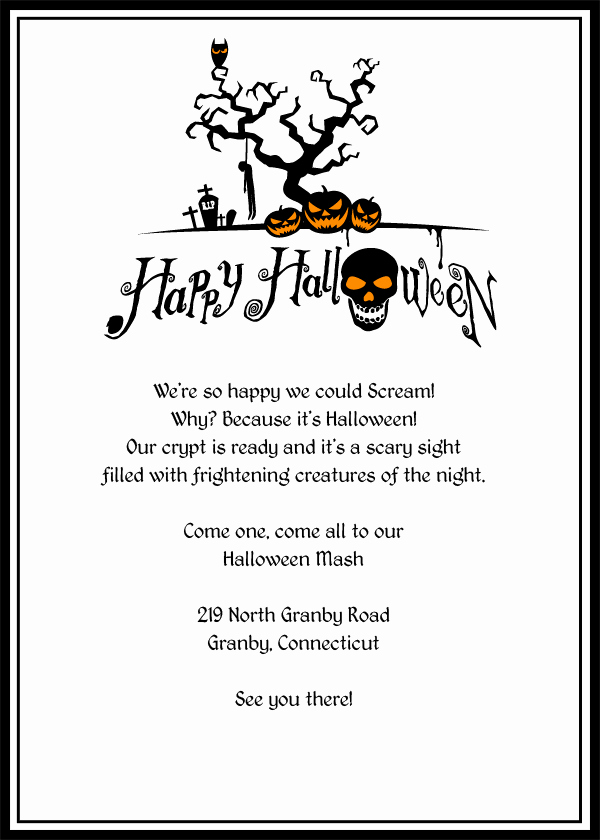 Free Halloween Party Invitation Templates Awesome Halloween Invitation Template Editable – Festival Collections
