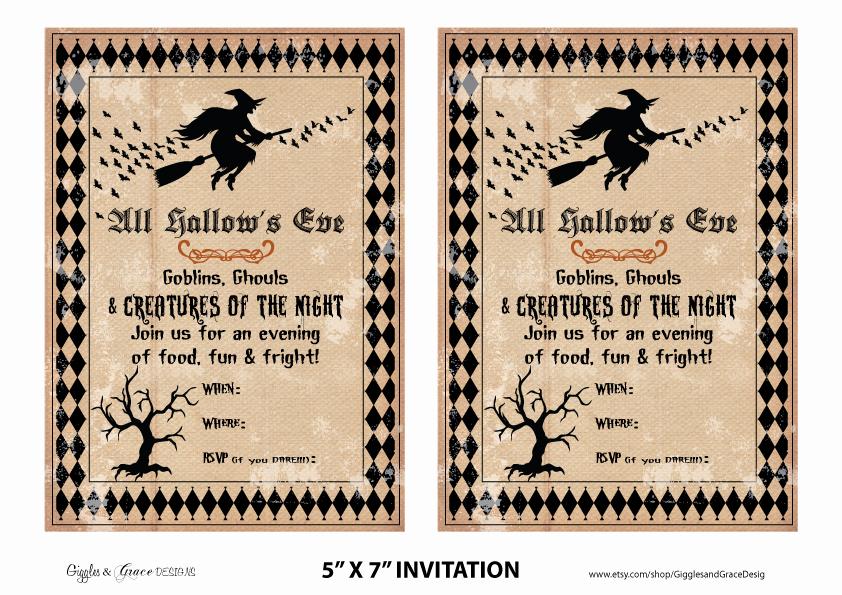 Free Halloween Party Invitation Templates Best Of Free Halloween Party Printables From Giggles & Grace
