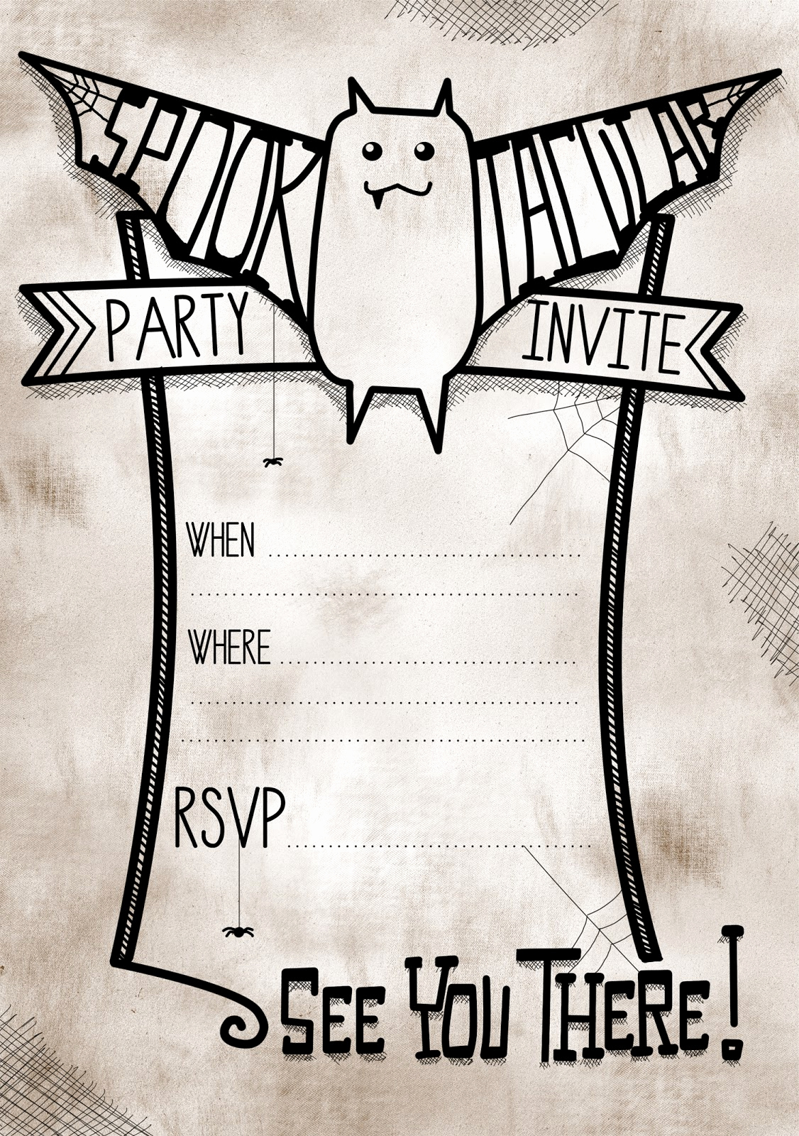 Free Halloween Party Invitation Templates Inspirational Free Printable Spooktacular Party Invites for Halloween