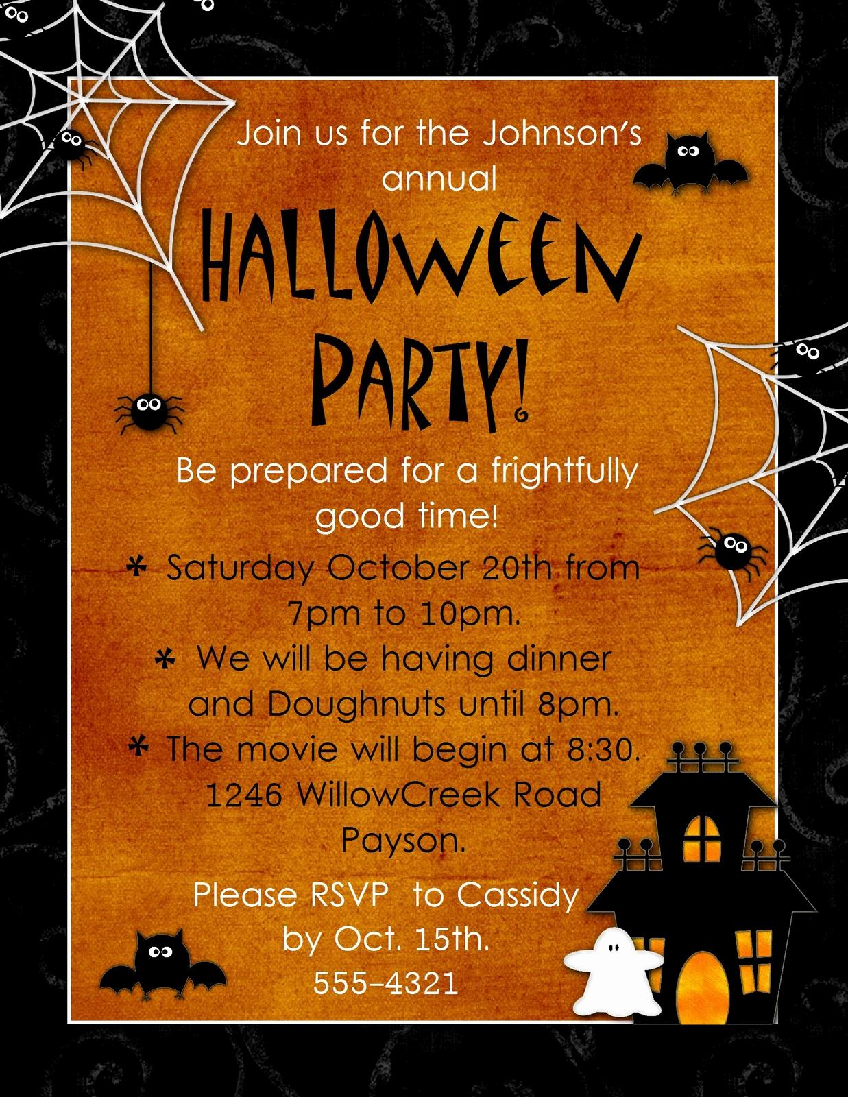 "Free Halloween Party Invitation Templates Inspirational Geneawebinars ""preserving Those Fun Autumn Memories"""
