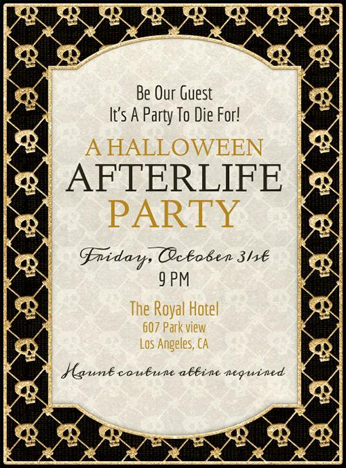 Free Halloween Party Invitation Templates Lovely Free Printable Halloween Party Invitations Templates