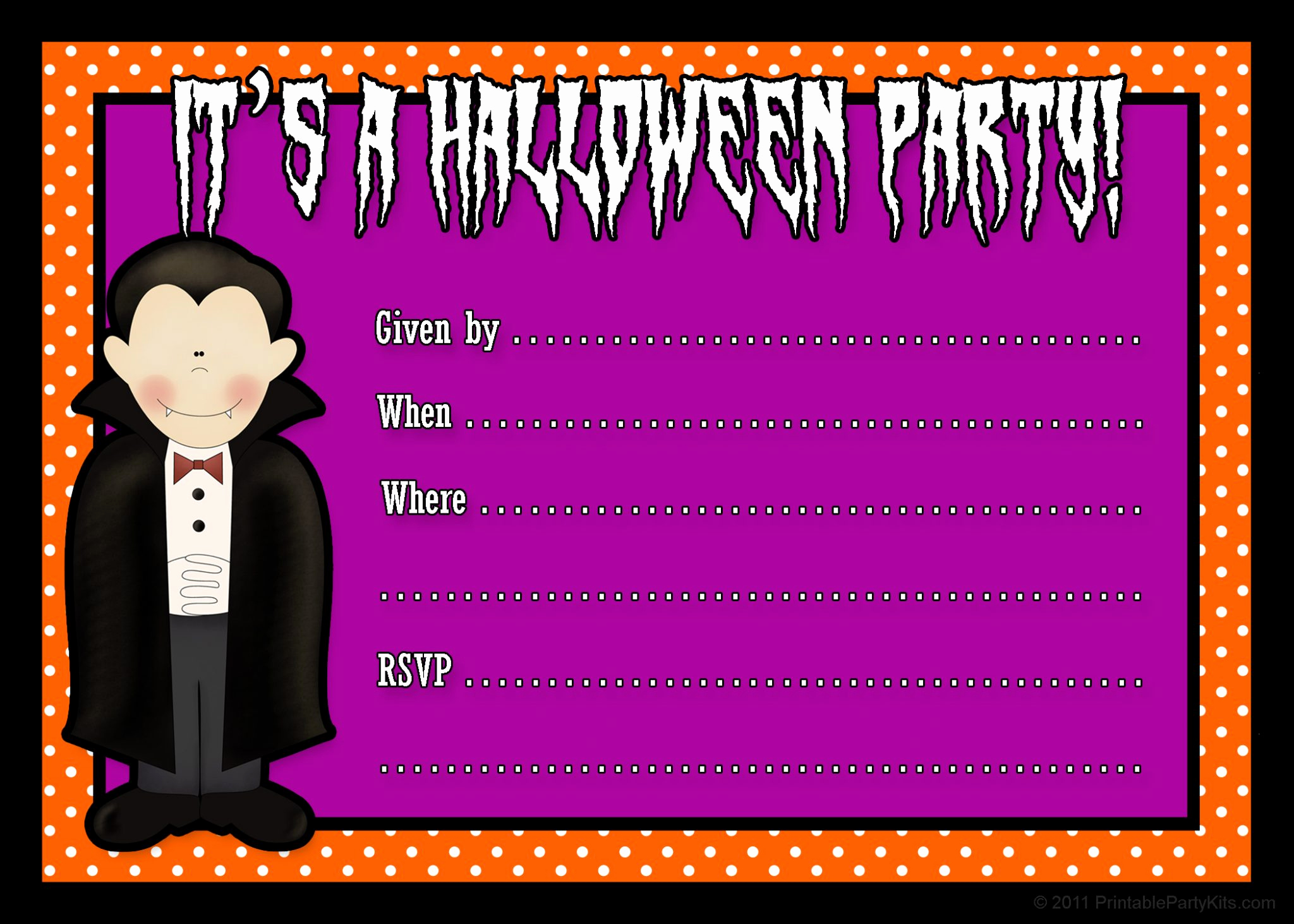 Free Halloween Party Invitation Templates Lovely Free Printable Halloween Party Invites