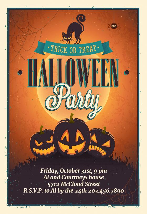 Free Halloween Party Invitation Templates Lovely Vintage Party Halloween Party Invitation Template Free