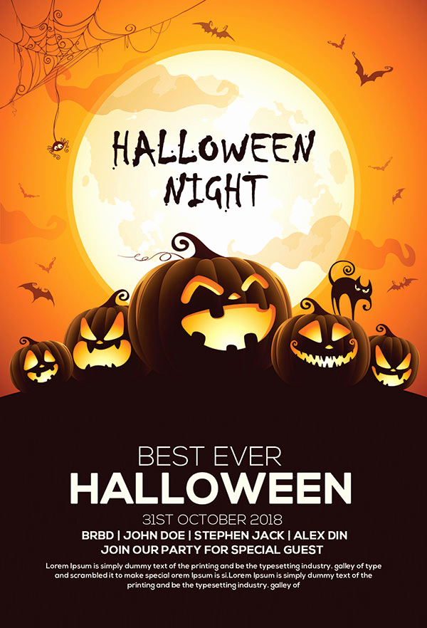 Free Halloween Party Invitation Templates Luxury 60 Free Halloween Posters Invitation Flyers & Print