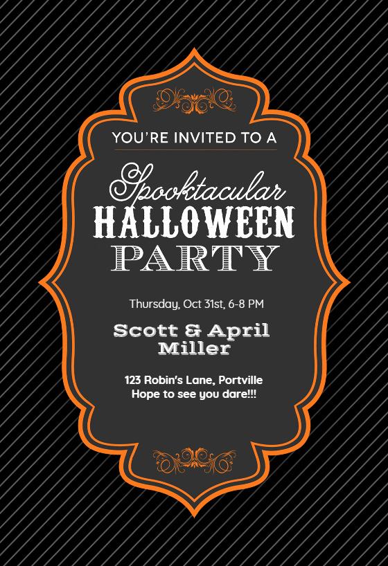 Free Halloween Party Invitation Templates Luxury Spooktacular Halloween Party Halloween Party Invitation