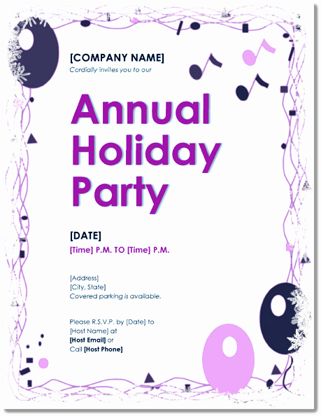 Free Holiday Invitation Template Awesome Free Holiday Party Invitations – 9 Templates In Pdf Word