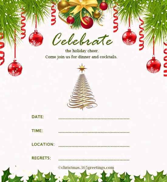 Free Holiday Invitation Template New Christmas Invitation Templates Word Free