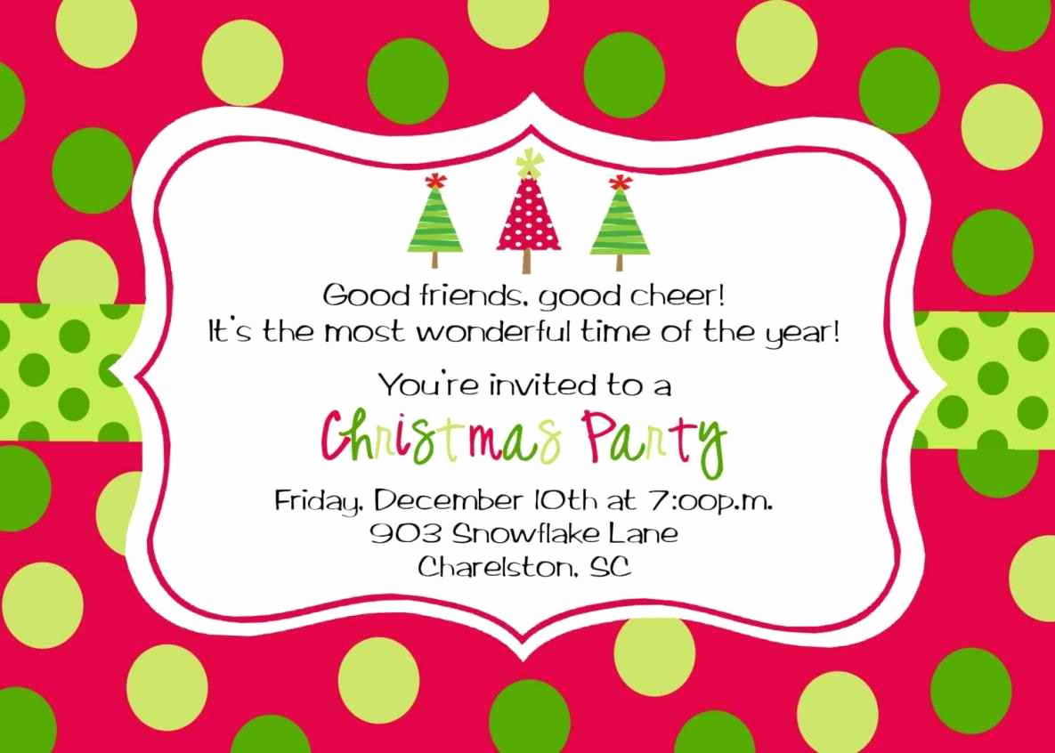 Free Holiday Invitation Template Unique Free Printable Christmas Party Invitations Template