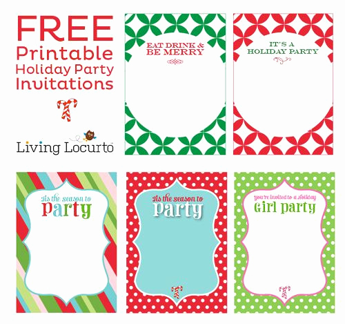 Free Holiday Invitation Template Unique Free Printable Holiday Party Invitations