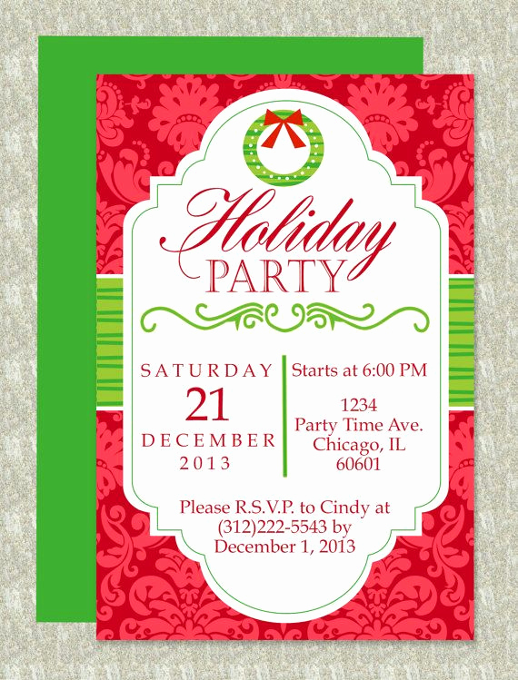 Free Holiday Invitation Templates Awesome Holiday Party Invitation
