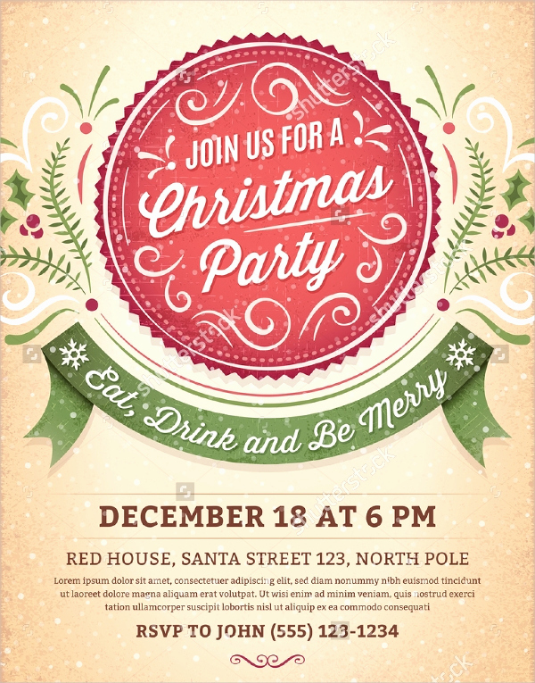 Free Holiday Invitation Templates Beautiful 32 Christmas Party Invitation Templates Psd Vector Ai