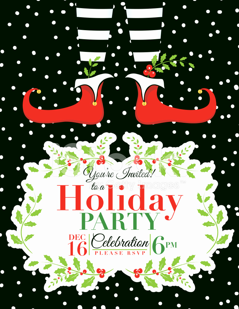 Free Holiday Invitation Templates Best Of Elf Christmas Party Invitation Template Stock Vector