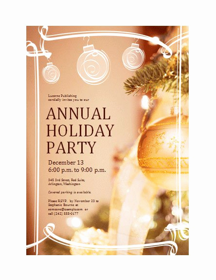 Free Holiday Invitation Templates Elegant Pany Christmas Party Invitations