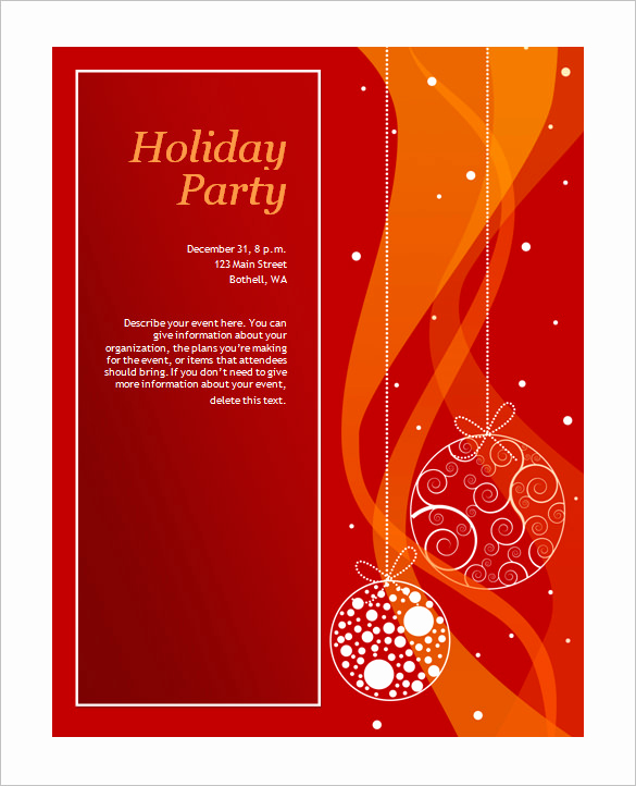 Free Holiday Invitation Templates Luxury 50 Microsoft Invitation Templates Free Samples
