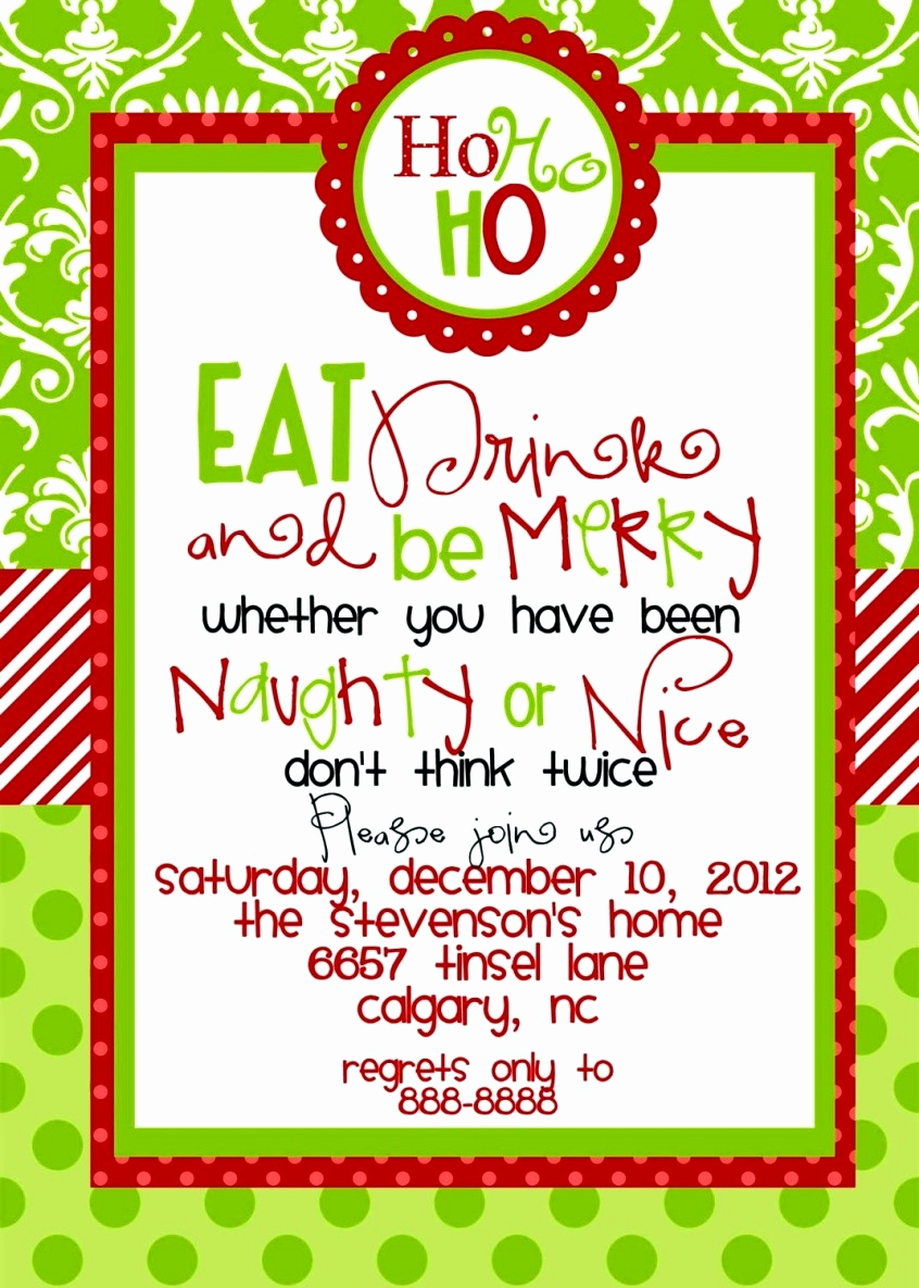 Free Holiday Invitation Templates Unique Free Christmas Party Invitation Templates Word Template