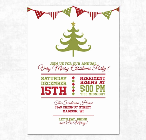 Free Holiday Party Invitation Templates Beautiful Free Christmas Invitation Printable