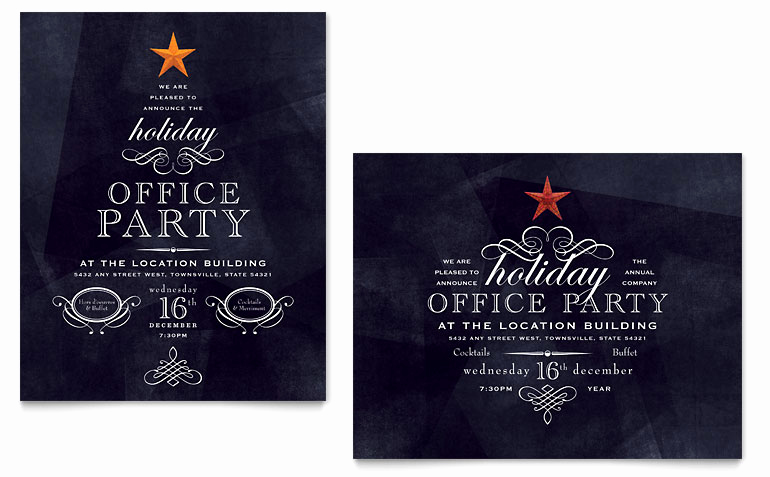 Free Holiday Party Invitation Templates Inspirational Fice Holiday Party Poster Template Word & Publisher