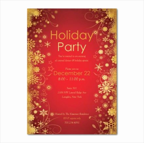 Free Holiday Party Invitation Templates Inspirational Holiday Invitation Template – 17 Psd Vector Eps Ai Pdf
