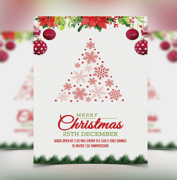 Free Holiday Party Invitation Templates New 32 Christmas Invitation Templates Psd Ai Word
