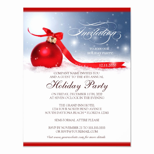 Free Holiday Party Invitation Templates Unique Corporate Holiday Party Invitation Template
