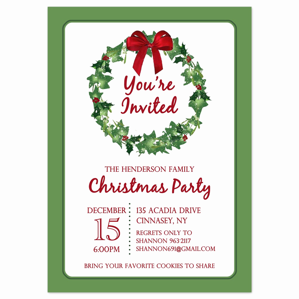 Free Holiday Party Invitation Templates Unique Downloadable Christmas Invitation