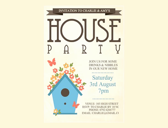 free housewarming party invitations templates