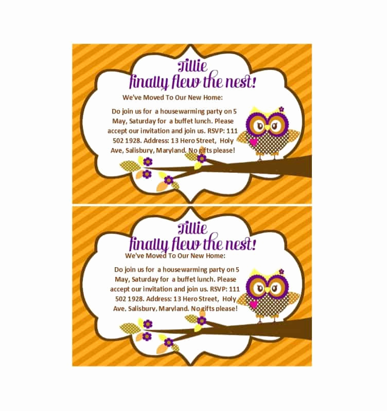 Free Housewarming Invitation Template Fresh 40 Free Printable Housewarming Party Invitation Templates