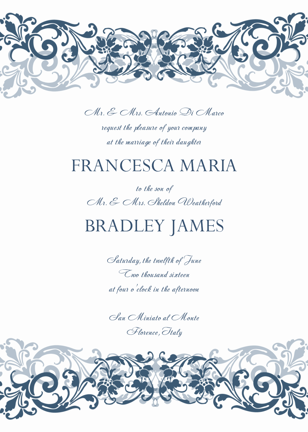 Free Invitation Template Printable Fresh 8 Free Wedding Invitation Templates Excel Pdf formats