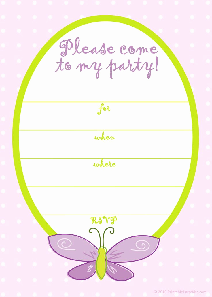Free Invitation Template Printable Lovely Free Printable Girls Birthday Invitations – Bagvania Free