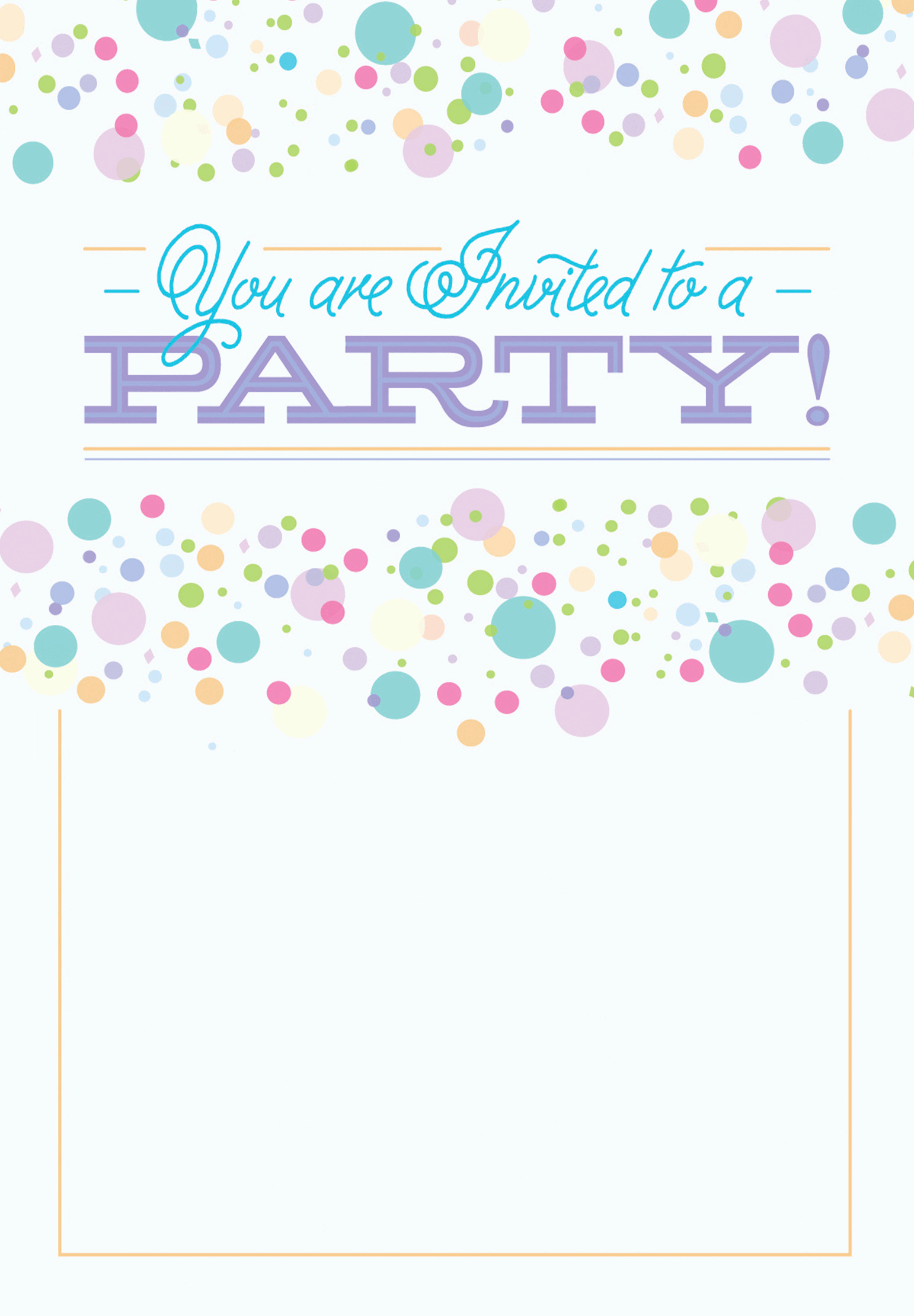 Free Invitation Template Printable Luxury Polka Dots Free Printable Party Invitation Template