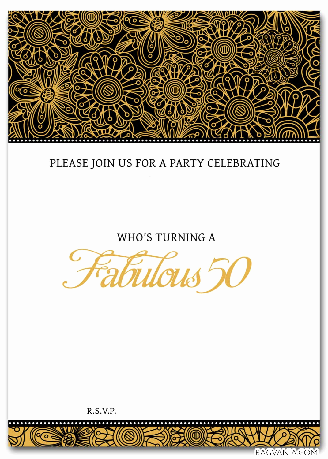 Free Invitation Template Printable New Free 50th Birthday Party Invitations Wording – Free