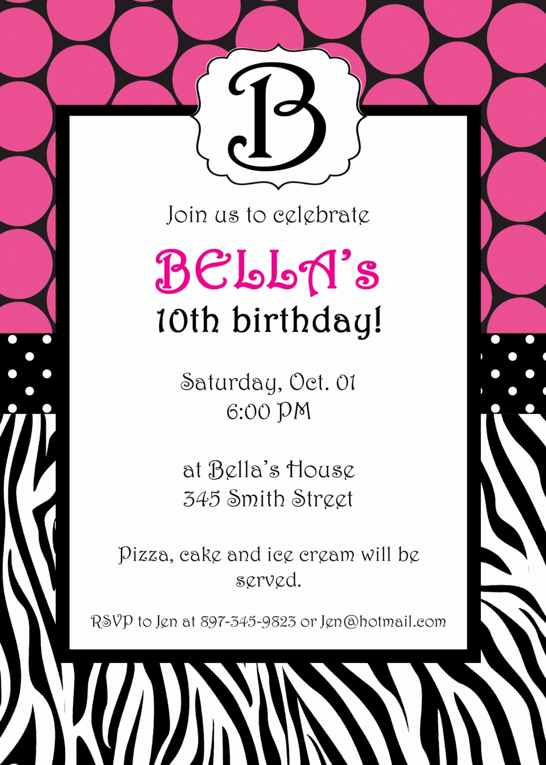 Free Invitation Template Printable New Free Printable Zebra Invitation Template