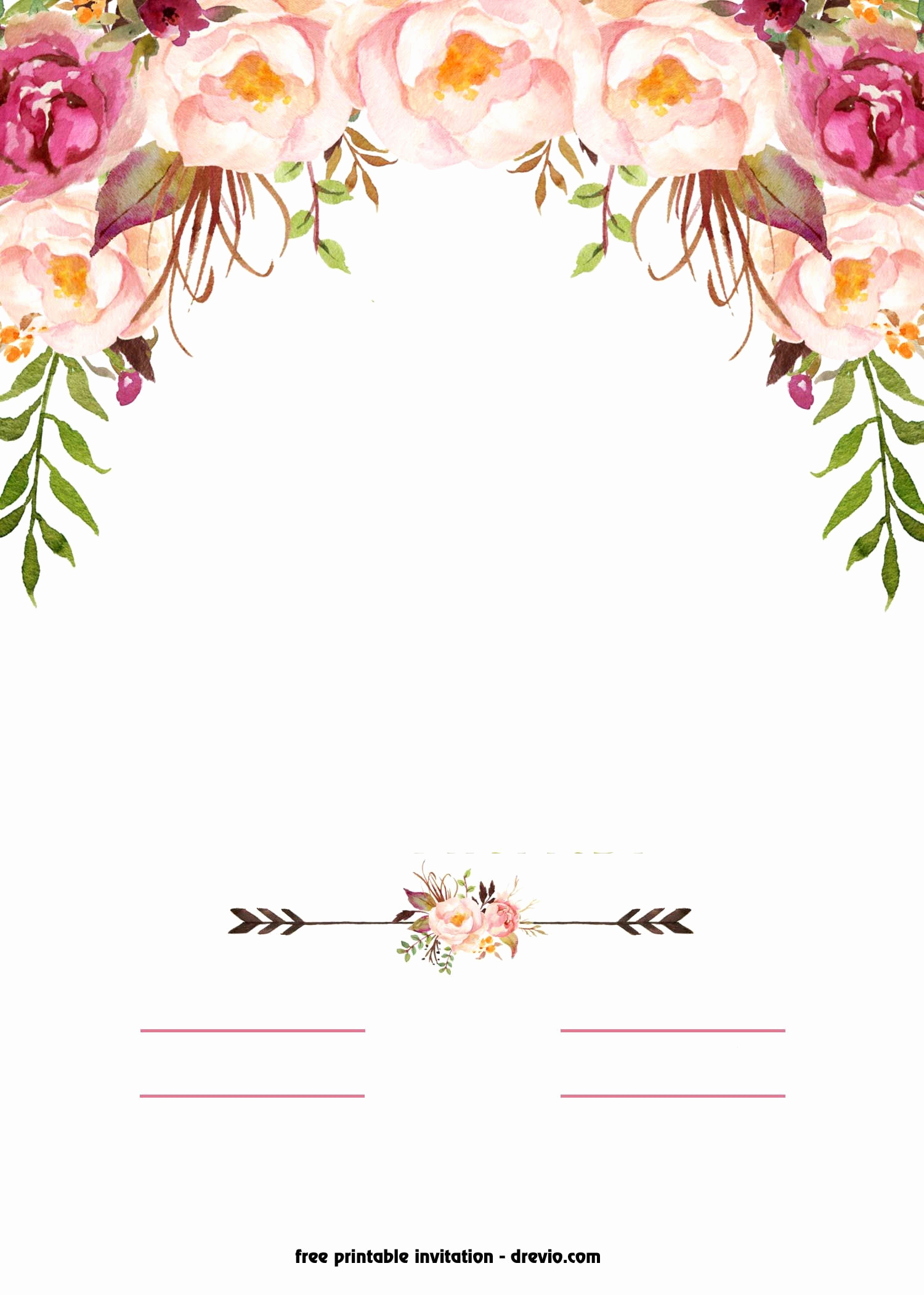 Free Invitation Template Printable Unique Awesome Free Printable Boho Chic Flower Baby Shower