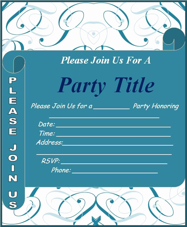Free Invitation Templates for Word Awesome Invitation Templates