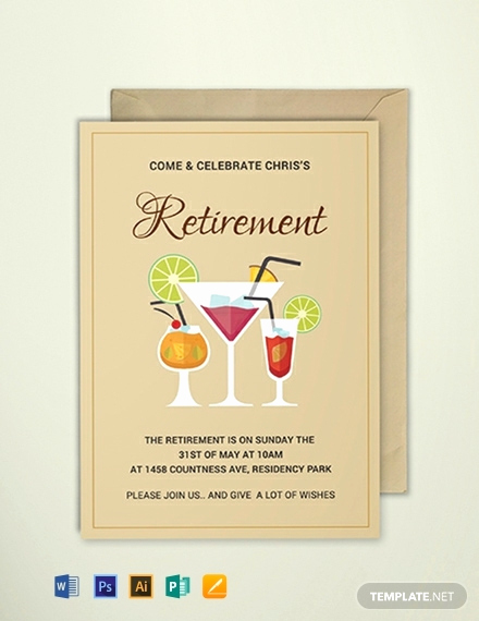 Free Invitation Templates for Word Inspirational Free Printable Retirement Party Invitation Template Word