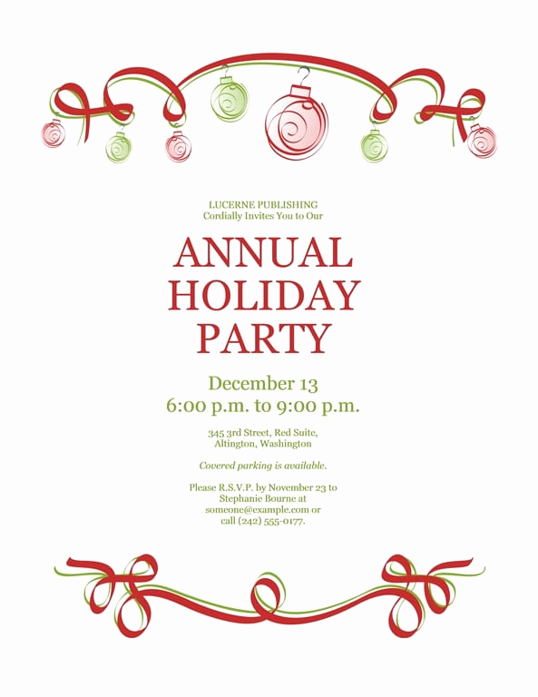 Free Invitation Templates for Word Inspirational Free Word Christmas Party Invitation Templates