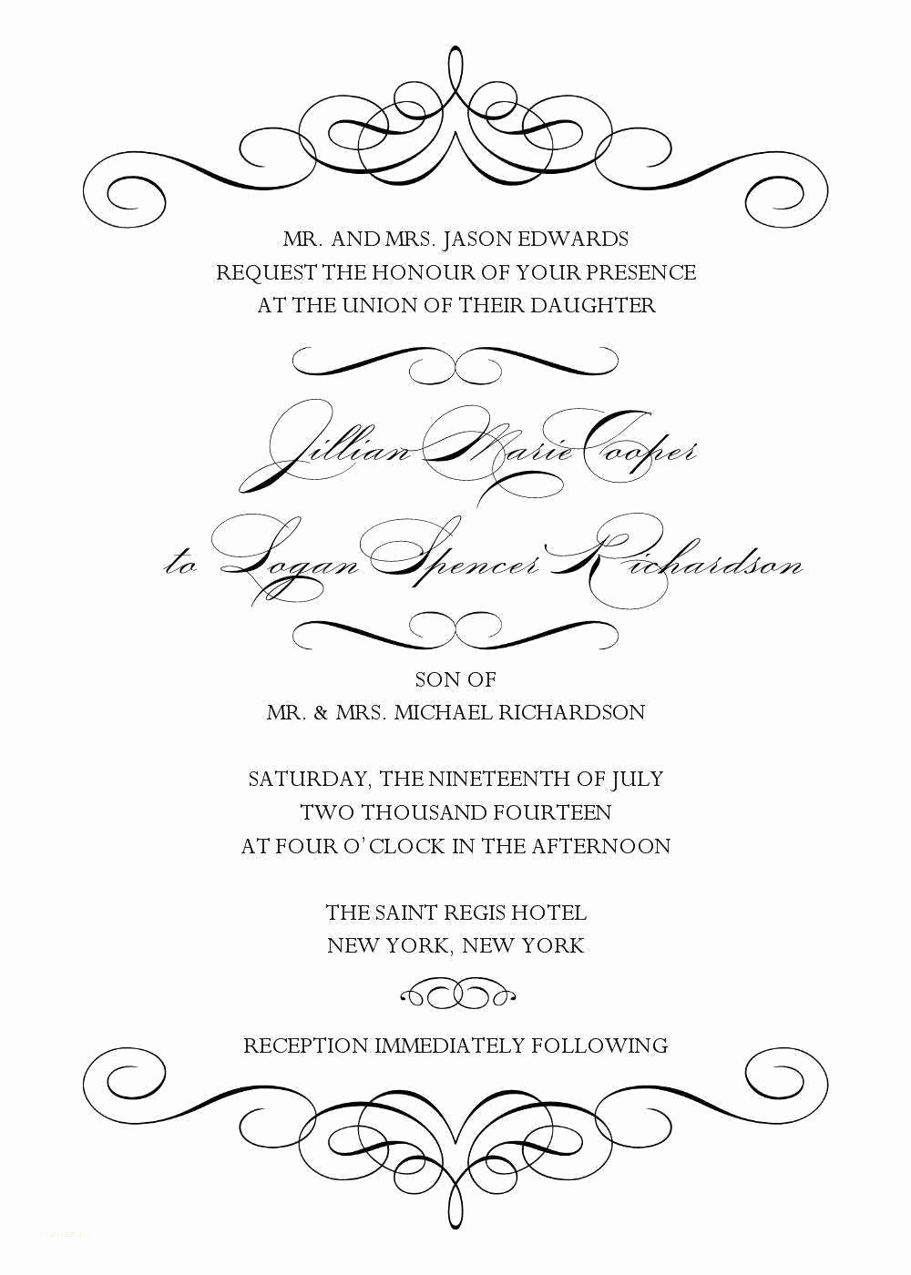 Free Invitation Templates for Word Lovely Blank Wedding Invitation Templates for Microsoft Word