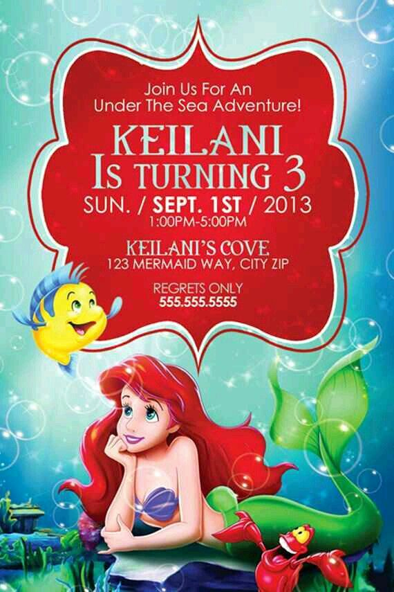Free Little Mermaid Invitation Templates Beautiful Best 25 Little Mermaid Invitations Ideas On Pinterest