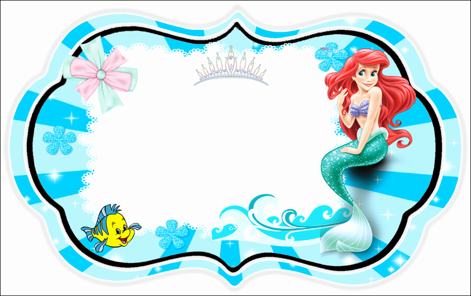 Free Little Mermaid Invitation Templates Elegant the Little Mermaid Free Printable Invitations Cards or